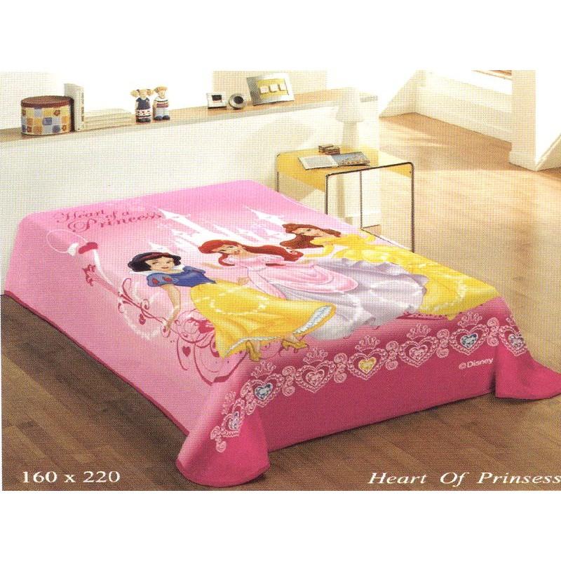 Κουβερτα μονη βελουτε Disney Heart of Princess